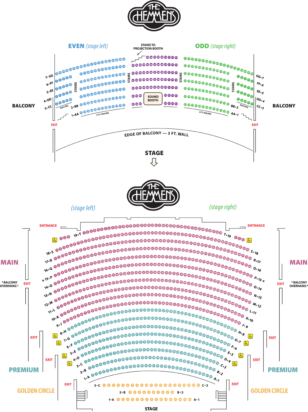 Seating Chart City Of Elgin Illinois Official Website