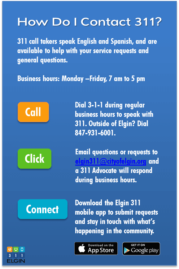 Contact 311 Graphic