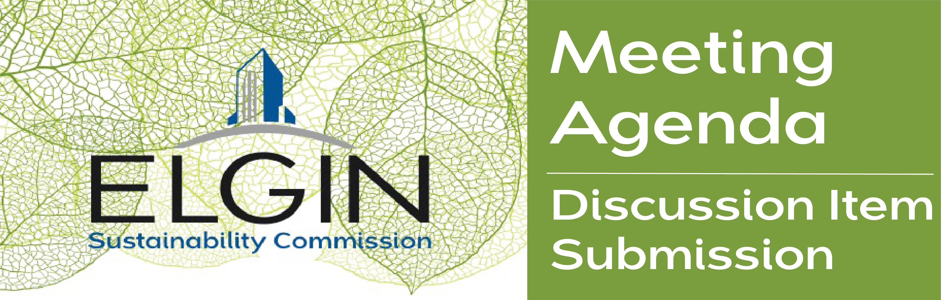 Discussion Item Submission for Sustainability Commission Meeting Agenda