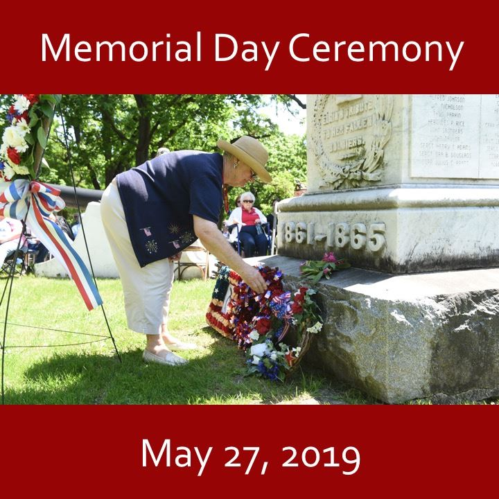 Memorial Day Ceremony icon-2019. laying a wreath