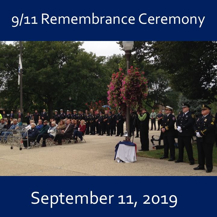 9/11 Remembrance Ceremony icon-2019. crowd image