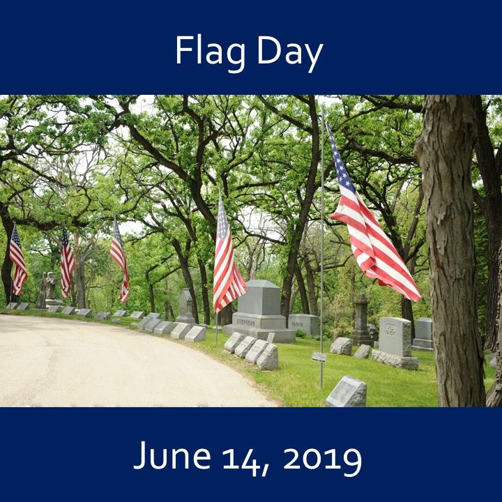Flag Day icon-2019. flags in the wind.
