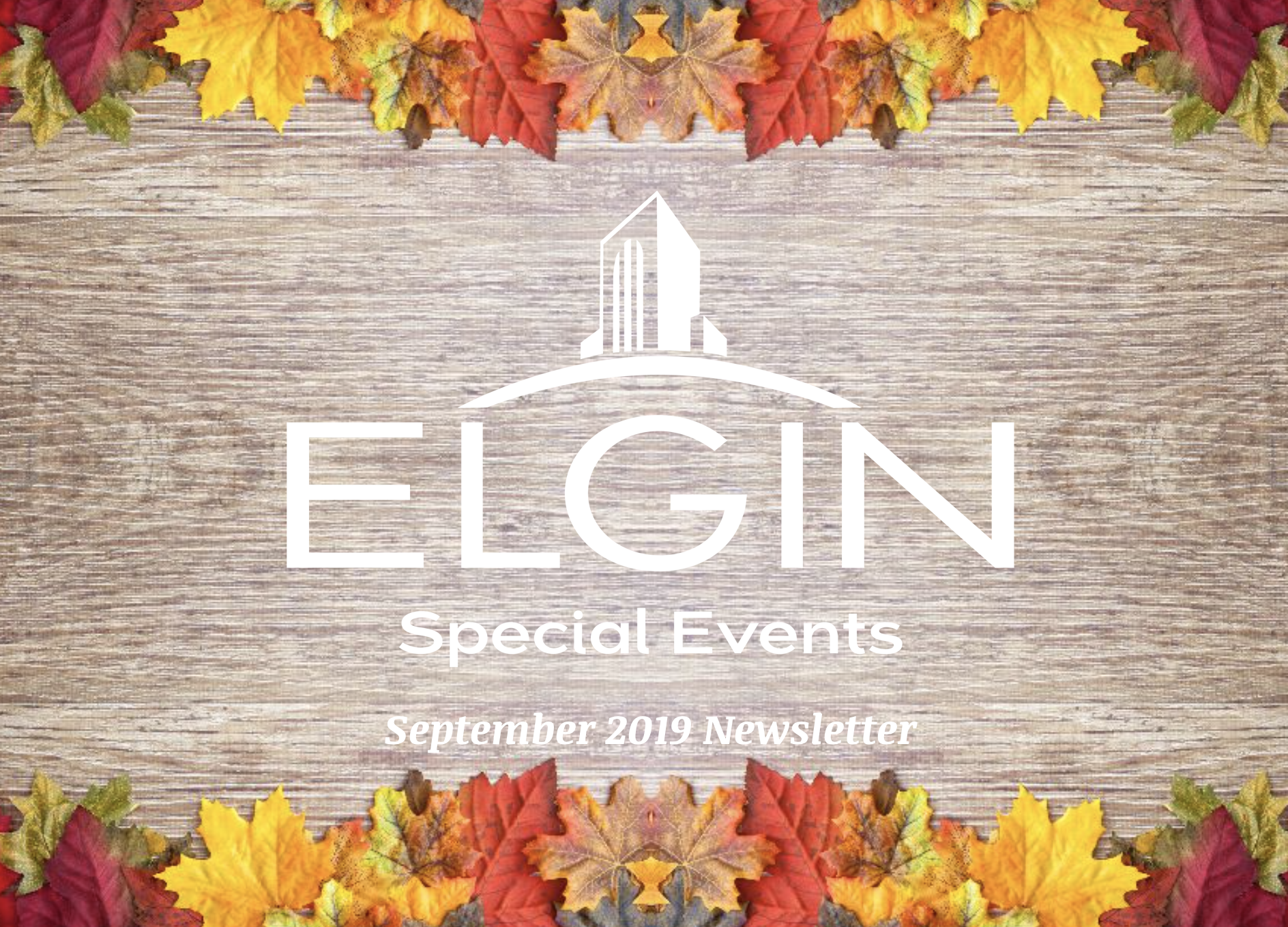 Special Events Newsletter header image for September 2019