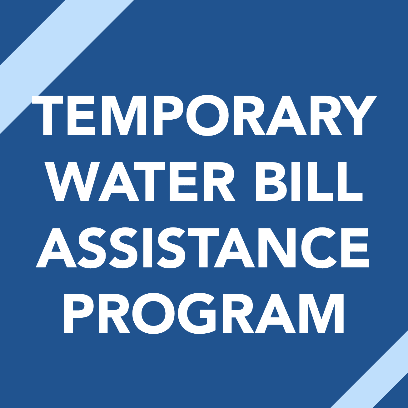 temporary water bill assistance program