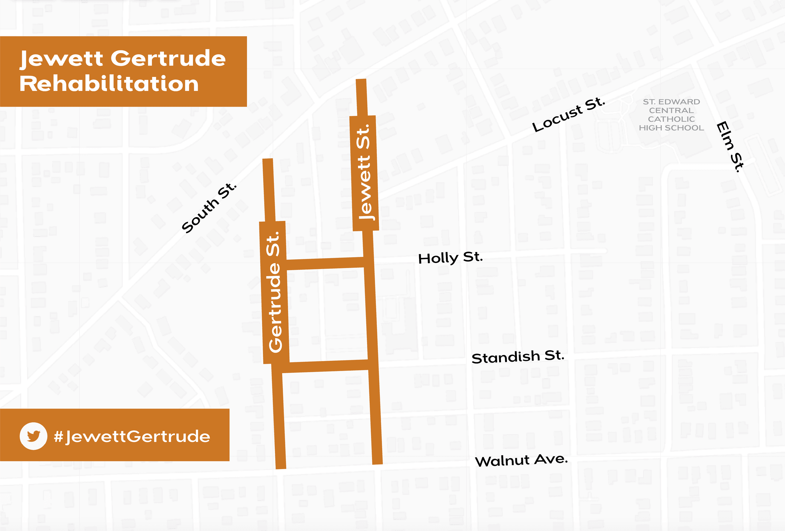 Jewett Gertrude rehabilitation project map
