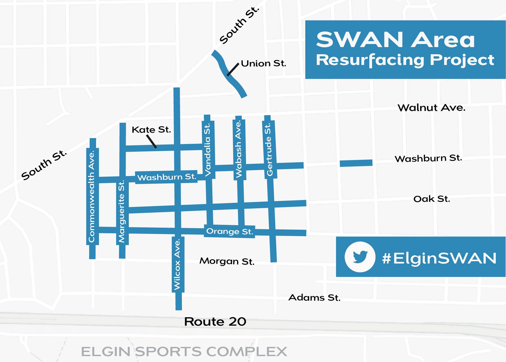 SWAN area  Resurfacing project map