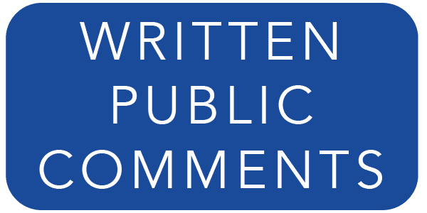 written public comments Button Opens in new window